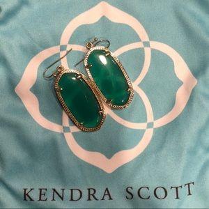 Kendra Scott Elle earrings in Emerald Green